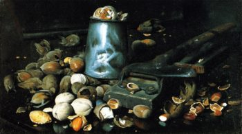 Still LIfe with Tin Can and Nuts | Joseph Decker | oil painting