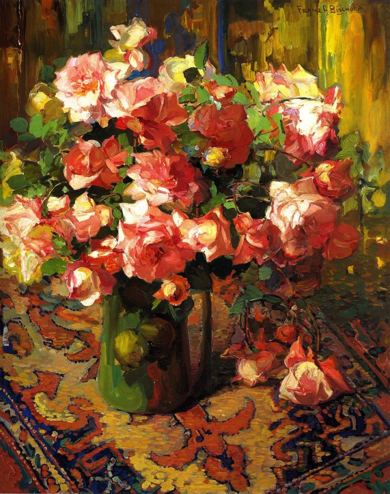 A Bouquet of Roses | Franz Bischoff | oil painting
