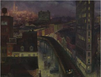 The City From Greenwich Village   John Sloan   oil painting
