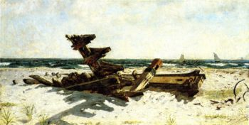 A Wreck at Rackaway | Joseph Decker | oil painting