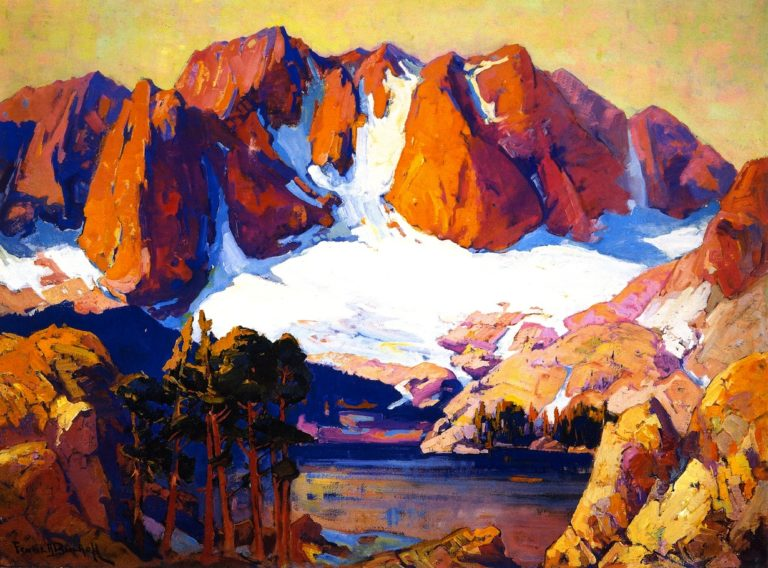 Alpenglow High Sierras | Franz Bischoff | oil painting