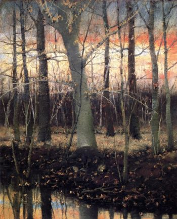 In the Woods | Joseph Decker | oil painting
