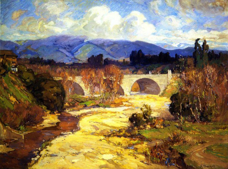 Arroyo Seco Bridge   Franz Bischoff   oil painting
