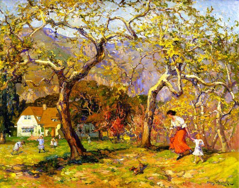 A Spring Poem   Franz Bischoff   oil painting