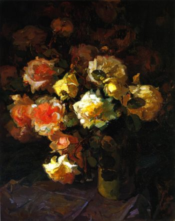 A Tapestry of Roses | Franz Bischoff | oil painting