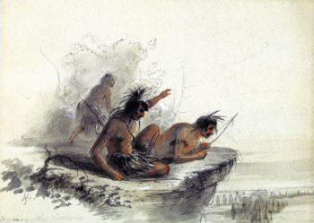 Watching the Caravan   Alfred Jacob Miller   oil painting