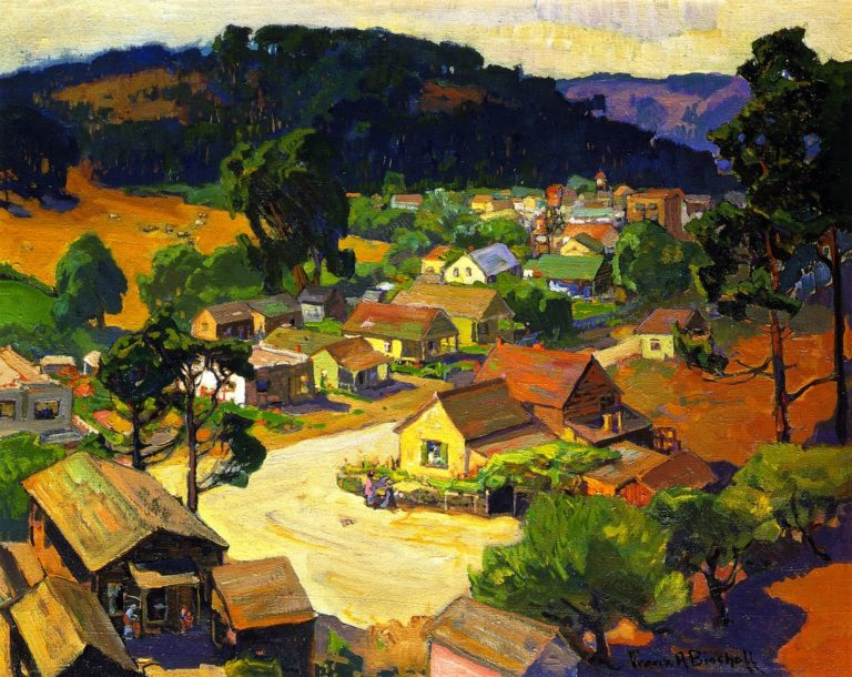 Cambria a Peaceful California Village | Franz Bischoff | oil painting