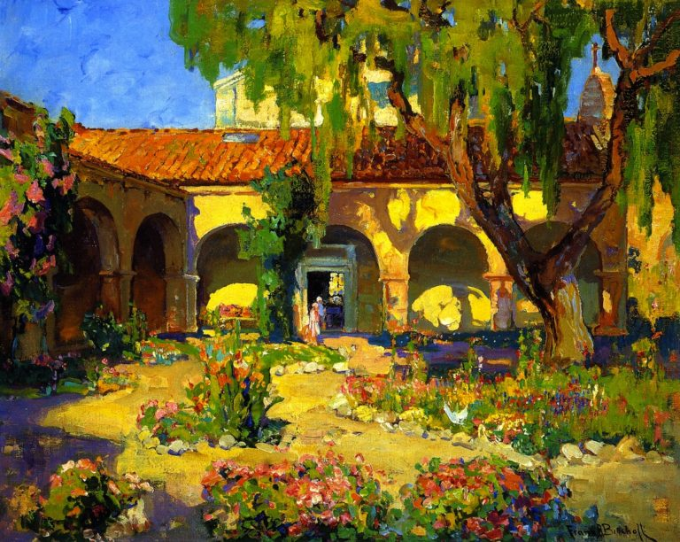 Capistrano Mission | Franz Bischoff | oil painting