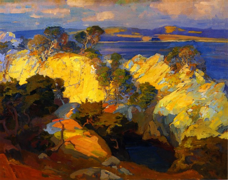 Carmel Coast | Franz Bischoff | oil painting