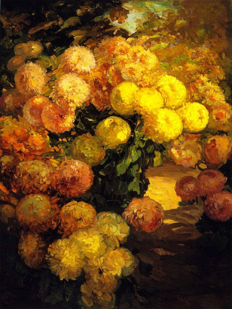 Chrysanthemums | Franz Bischoff | oil painting