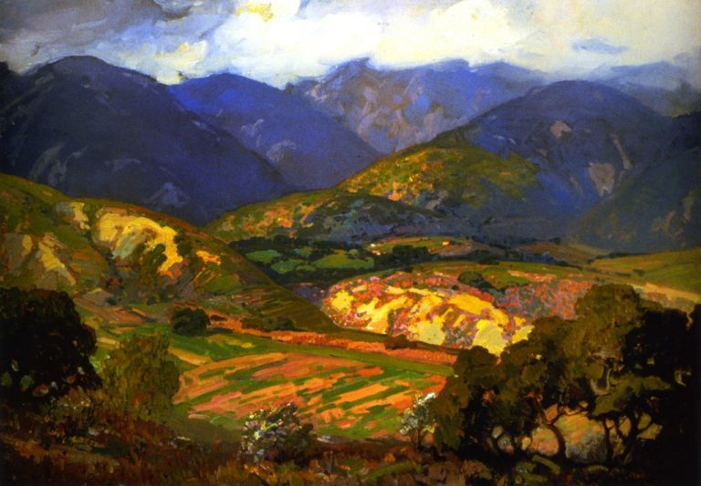 Clouds Drifting over the Mountains | Franz Bischoff | oil painting