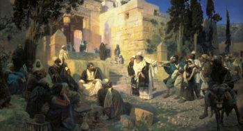 Christ And Woman Taken In Adultery 1886-1887 | Vasily Polenov | oil painting