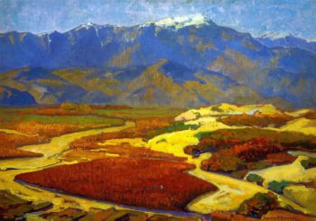 Cotton Fields and Desert River | Franz Bischoff | oil painting
