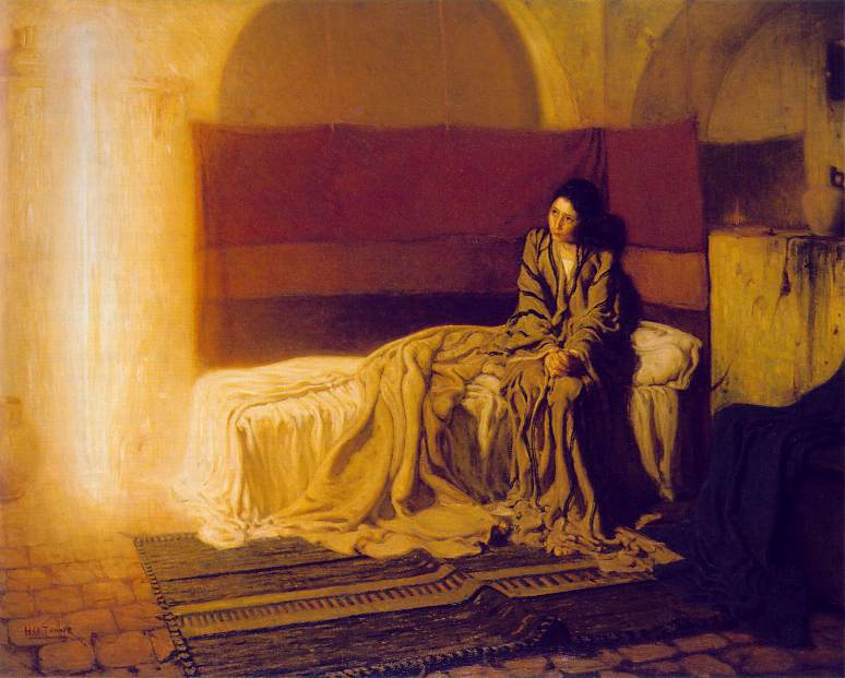 The Annunciation 1898 | Henry Ossawa Tanner | oil painting