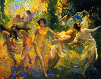 Dancing Women | Franz Bischoff | oil painting
