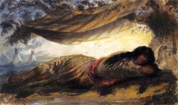 Snake Female Reposing | Alfred Jacob Miller | oil painting