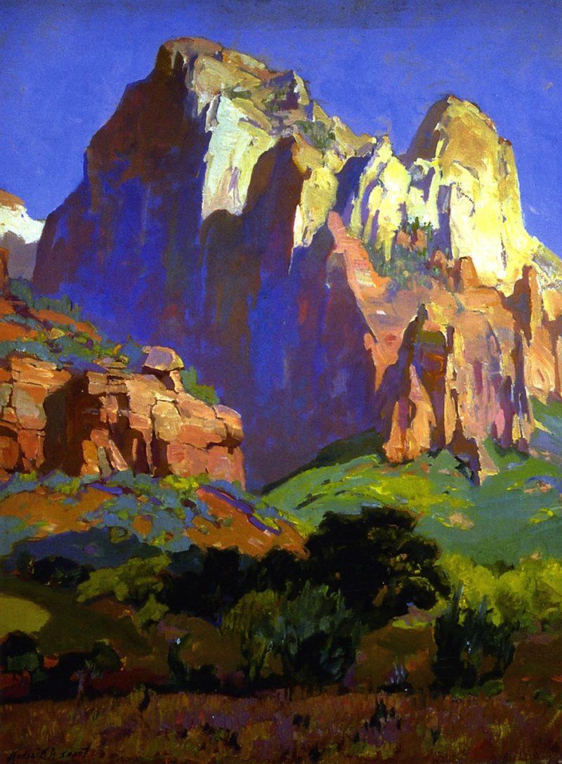 Desert Giants Utah   Franz Bischoff   oil painting