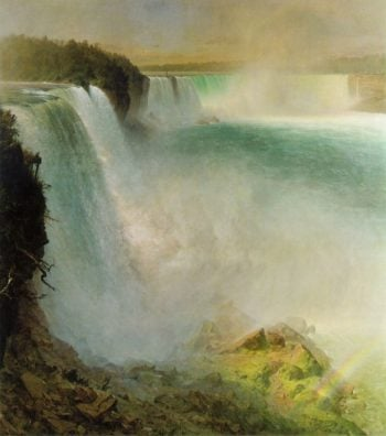 Niagara Falls from the American Side 1867 | Frederic Edwin Church | oil painting