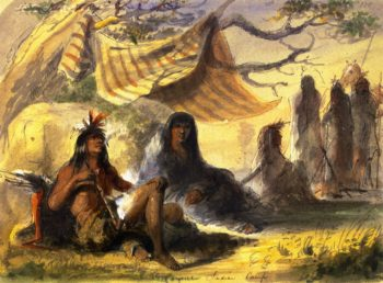 Pawnee Indian Camp | Alfred Jacob Miller | oil painting