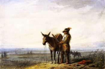 Old Bill Burrows a Free Trapper | Alfred Jacob Miller | oil painting