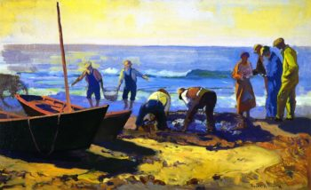 Fishing at Laguna | Franz Bischoff | oil painting