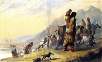 Migration of the Pawnees | Alfred Jacob Miller | oil painting