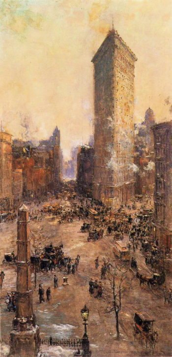 Flat Iron Building | Colin Campbell Cooper | oil painting