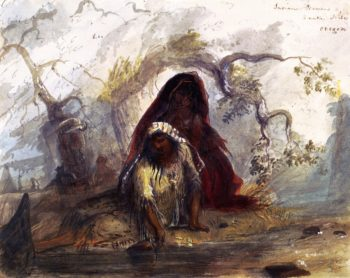 Indian Women Snake Tribe Oregon   Alfred Jacob Miller   oil painting