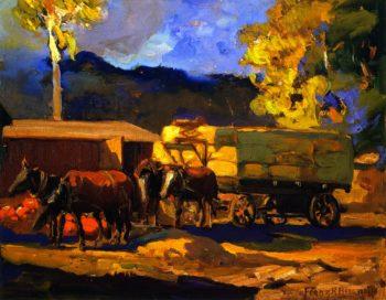 Haywagon | Franz Bischoff | oil painting