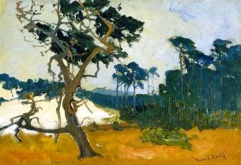 Lone Cypress   Franz Bischoff   oil painting