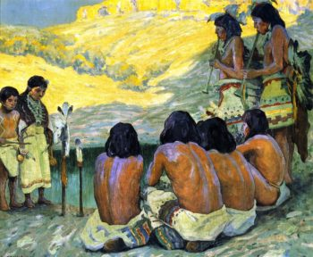 The Flute Ceremony | E Irving Couse | oil painting