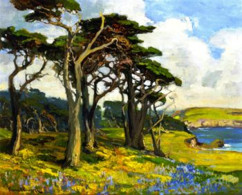Monterey Shore in Springtime | Franz Bischoff | oil painting