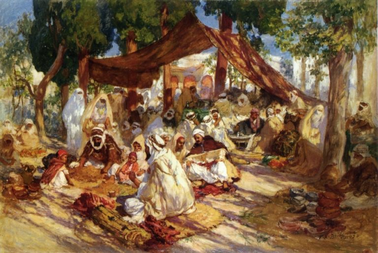 Market Scene | Frederick Arthur Bridgman | oil painting