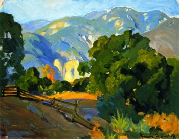 Mountain Fence | Franz Bischoff | oil painting