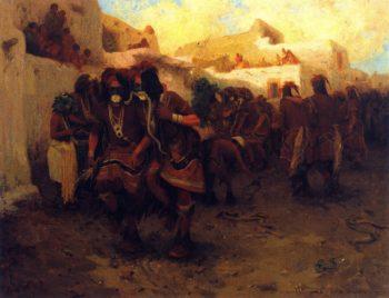 Moki Snake Sance | E Irving Couse | oil painting