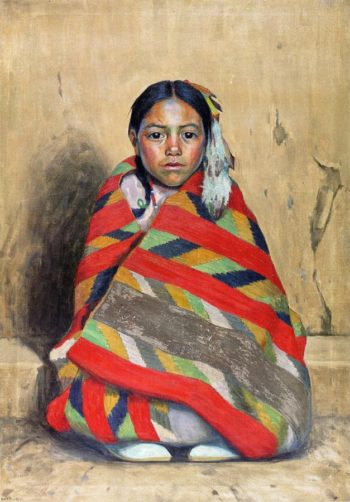 Indian Girl in a Blanket | E Irving Couse | oil painting