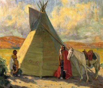 Crow Tent | E Irving Couse | oil painting