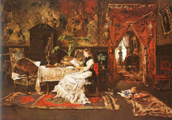 Paris Interior | Mihaly Munkacsy | oil painting
