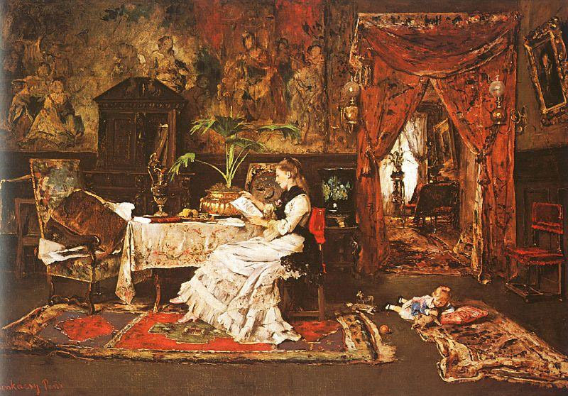 Paris Interior | Mihaly Munkacsy | oil painting
