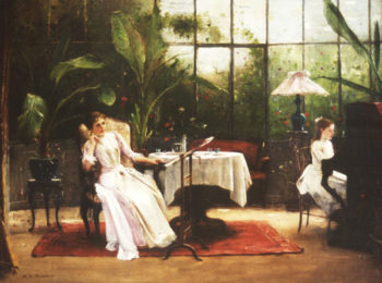 Piano Lesson   Mihaly Munkacsy   oil painting