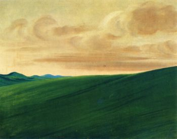 Nishnabottana Bluffs Upper Missouri | George Catlin | oil painting