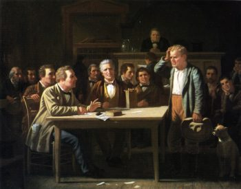 The Puzzled Witness   George Caleb Bingham   oil painting