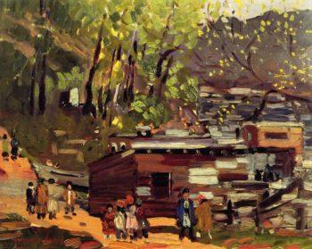 Upper Manhattan | George Benjamin Luks | oil painting