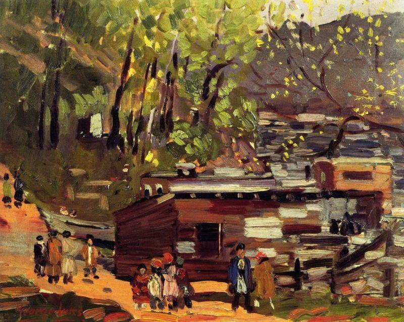 Upper Manhattan   George Benjamin Luks   oil painting