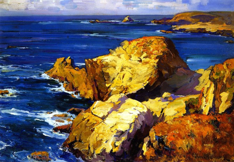 Rocks along the Coast | Franz Bischoff | oil painting