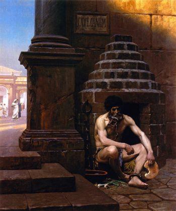 War Prisoner in Rome | Jean Leon Gerome | oil painting