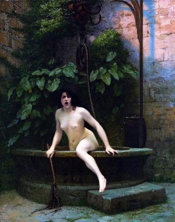Truth Coming Out of Her Well to Shame Mankind | Jean Leon Gerome | oil painting