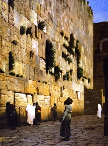 The Wailing Wall | Jean Leon Gerome | oil painting
