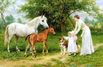 The Introduction | George Augustus Holmes | oil painting
