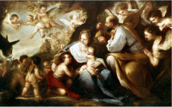 The Holy Family | Luca Giordano | oil painting